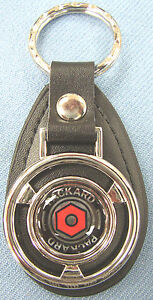 Rare Black Packard Mini Steering Wheel Leather Key Ring 1955 1956 1957 1958