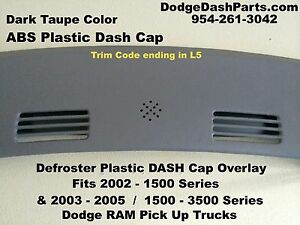 Dodge Ram Defroster Dash Cap Hard Cover Fits 02 05 P U Truck Color Dark Taupe