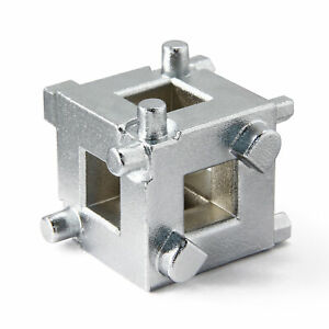 Powerbuilt Rear Disc Brake Piston Cube Tool For 3 8 Drive Tool 648410
