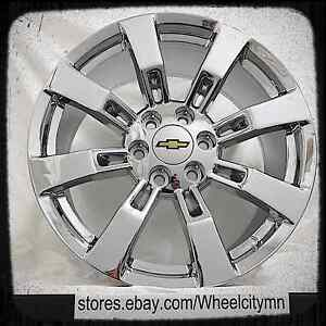20 Inch Chrome Chevrolet Ck375 Oe Factory Wheels Chevy Tahoe Suburban Ltz 6x5 5