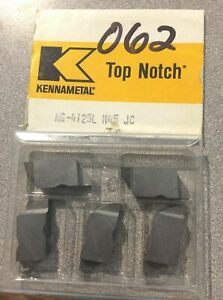 Kennametal Ng 4125l Top Notch K45 Jc Lathe Carbide 5 Inserts Grooving Cut Off