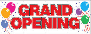 4x12 Ft Grand Opening Vinyl Banner Sign New Balloons Wb