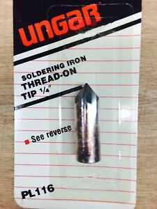 1 4 Thread on Soldering Iron Ungar pl116 nn0445 10