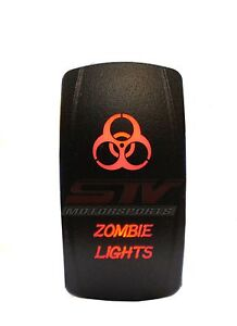 Rocker Switch Zombie Lights Red Led Jeep Truck Wrangler