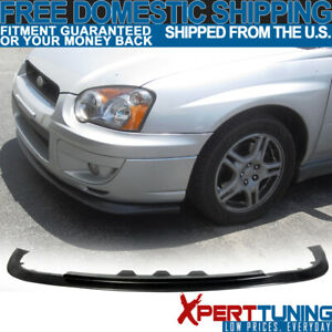 Fit For 04 05 Subaru Impreza Rs Outback Front Bumper Lip Spoiler Black Pp Sti