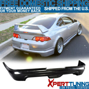 Fits 02 03 04 Acura Rsx Coupe Mugen Urethane Rear Bumper Lip Spoiler Bodykit Pu