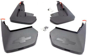 2015 2018 Chevrolet Tahoe Oem Front Rear Black Molded Splash Guards New