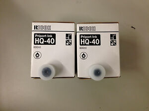 2 Genuine New Ricoh Priport Ink Hq 40 For Dx4542 jp4500 Same Day Shipping