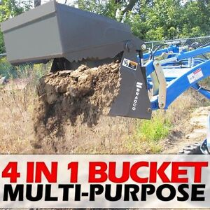 Jcb Q fit Tractor backhoe Loader 4 In 1 Multipurpose Bucket W 1 25 Cu Yd Cap