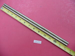 2 Pieces 3 8 C360 Brass Solid Round Rod 14 Long New Lathe Bar Stock 375