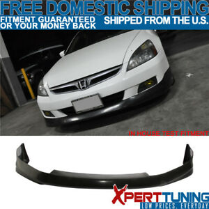 Fits 2006 2007 Honda Accord 2dr Front Bumper Lip Spoiler Hfp Style Urethane