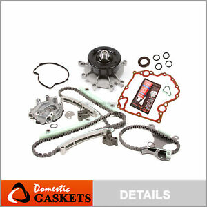 99 08 Dodge Jeep 4 7l Timing Chain Oil Pump Water Pump Kit cover Gasket no Gear