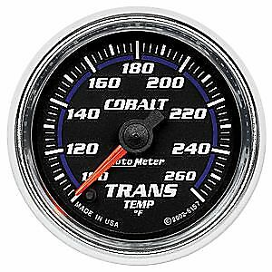 Auto Meter Cobalt Full Sweep Electric Transmission Temp Gauge 0 260 Degrees 6157