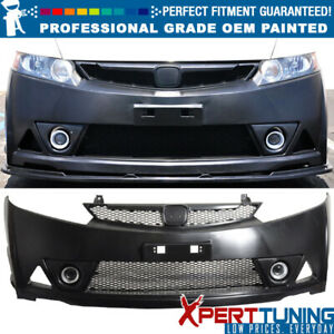 Fits 06 11 Honda Civic Mu Rr Style Pp Front Bumper Cover Oem Painted Color