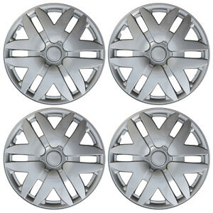 4 New Abs Silver Fits 2004 2005 2006 2007 Toyota Sienna 16 Wheel Hub Caps Cap