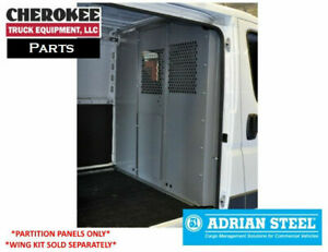 Adrian Steel S1m2c2pm Partition Panel Kit For Ram Promaster Ford Transit
