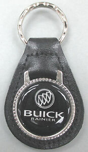 Vintage Black Buick Rainier Leather Usa Keyring Key Fob Key Holder