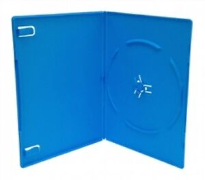 100 Slim Solid Blue Color Single Dvd Cases 7mm