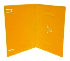 100 Slim Solid Orange Color Single Dvd Cases 7mm