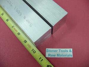 2 Pieces 1 3 4 x 1 3 4 Aluminum Square 6061 Flat Bar 10 Long Solid Mill Stock