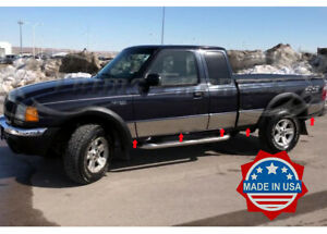 93 2004 Ford Ranger Extended Cab 4wd Short Bed Stainless Steel Rocker Panel Trim