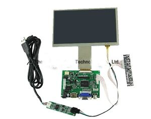 7 Inch Tft Lcd Monitor Touch Screen Driver Board Hdmi Vga For Raspberry Pi B