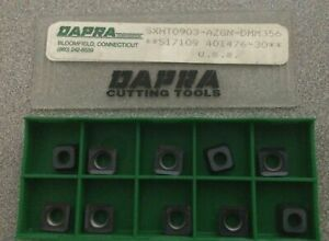 Dapra Cutting Tools Sxht0903 Azgn Dmm356 S17109 Carbide 10 Inserts Turning Lathe