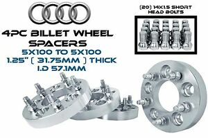 4 5x100 To 5x100 1 25 Thick Wheel Spacers Adapters W 20 14x1 5 Lug Bolts