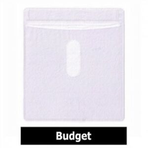 1000 Cd Double sided Plastic Sleeve White Budget