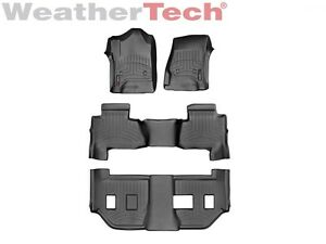 Weathertech Floorliner For Suburban Yukon Xl W Bench Seats 2015 2019 Black