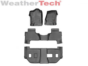 Weathertech Floor Mats Floorliner For Cadillac Escalade Esv 2015 2019 Black