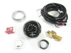 Aem Digital Oil Pressure Gauge Kit W Led Interface 0 To 150 Psi 30 4407 New