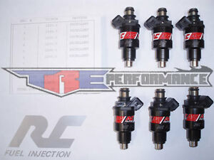 Rc 550cc Fuel Injectors Fits Denso Nissan Skyline Toyota Supra Turbo Rb26dett