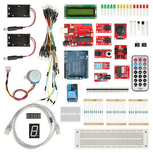 Uno R3 Starter Kit 1602 Lcd Resistor Potentionmeter Remote Control For Arduino