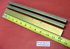 3 Pieces 1 2 X 1 C360 Brass Flat Bar 12 Long Solid 500 Mill Stock H02
