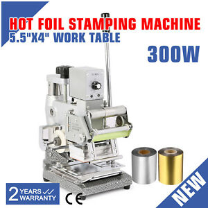 Leather Plastic Cloth Printer Hot Foil Stamping Machine W Two Foil Paper