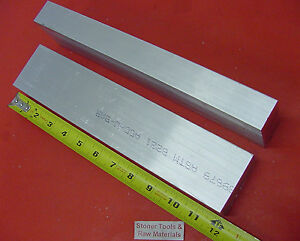 2 Pieces 1 X 2 1 2 Aluminum 6061 Flat Bar 12 Long T6 Solid Plate Mill Stock
