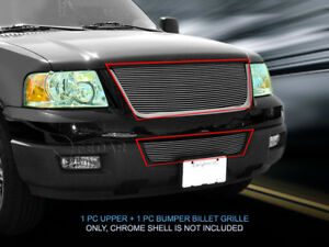 Fits 2003 2006 Ford Expedition Billet Grille Grill Combo