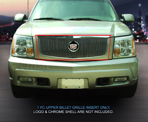 Fits 2002 2006 Cadillac Escalade Vertical Billet Grille Front Grill Logo Show