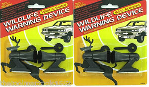 4 Ultrasonic Car Deer Warning Whistles 2 Packs Auto Safety Alert Device