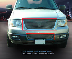 Fits 2003 2006 Ford Expedition Polished Billet Grille Grill Combo No Shell