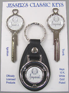 White Imperial Eagle Deluxe Classic White Gold Key Set 1966 1967 1968 1969