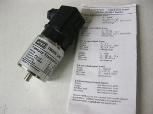 891 24 510 Pressure Transmitter Wika Tronic Line 0 To 160 Psi 4 20ma 13 36 Vdc