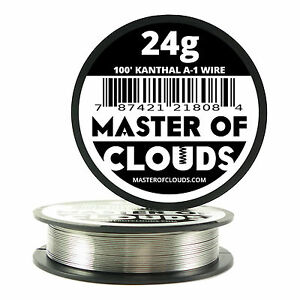100 Ft 24 Gauge Awg A1 Kanthal Round Wire 0 51mm Resistance A 1 24g Ga 100