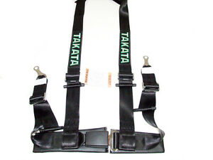Takata Drift Ii 4 Point Bolt on 2 Racing Seat Belt Harness black