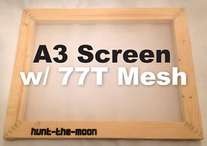 Mega Deal A3 77t Value Wooden Screen Printing Frame For The Price Of 43t