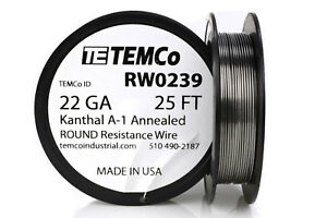 Temco Kanthal A1 Wire 22 Gauge 25 Ft Resistance Awg A 1 Ga