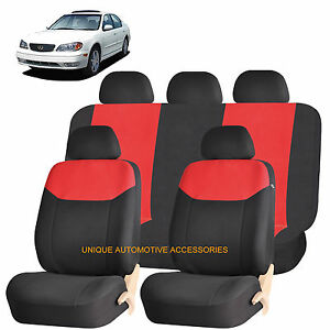 Red Elegant Airbag Compatible Seat Cover Set For Infiniti M56 Fx35