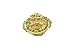 Antique Style Victorian Drawer Pull Ring Pull Vintage Single Post Solid Brass