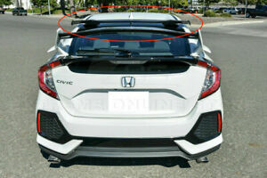 Fit 16 Up Honda Civic Fk4 Fk7 Hatchback Jdm Spoon Style Rear Roof Abs Spoiler